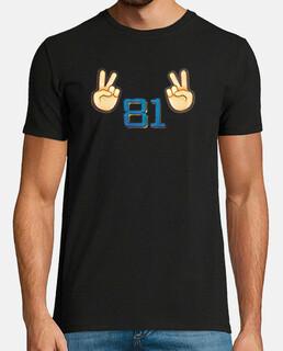 Camiseta 'V81V' negra