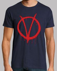 Camiseta V de Vendetta. V.