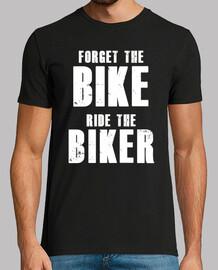 camiseta vergessen sie das fahrrad, die radfahrer fahren