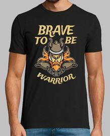 Camiseta Vikingo Warrior Cartoon Viking Dibujo Vikingos Breave to be warrior