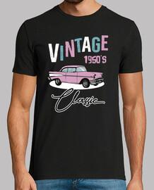 Camiseta Vintage 1950s Rockabilly American Classic Cars USA