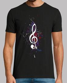 camiseta violinschlüssel