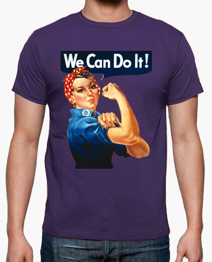 Camiseta we can do it retro