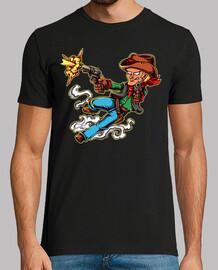 Camiseta Western Wild West Pistolero Vaquero Oeste Cartoons