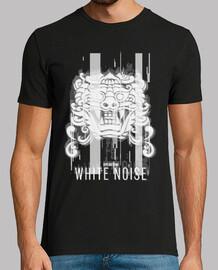Camiseta White Noise Glitch blanco