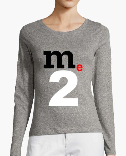 Camiseta Yo también, me too. Mujer, manga larga, gris mezcla