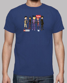 Camiseta youtube mas logo detras