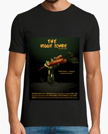 Camiseta zombi vegetariano
