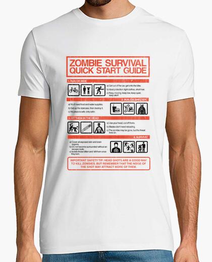 Camiseta Zombie Survival Quick Start Guide