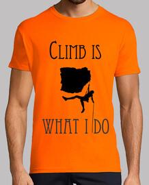 CamisetaH ClimbisWhatIdo Naranja