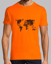 CamisetaH MapaMundiNegro