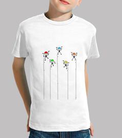 CamisetaNiño AlpinistasColores