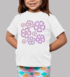 camisetas flores fuschia