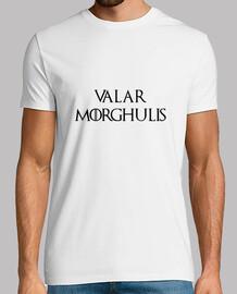 camisetas juego de tronos: valar morghulis