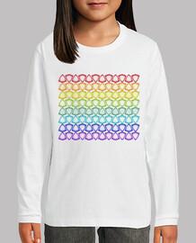 camisetas modelo del arco iris