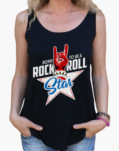 Camisetas Mujer - Rock and Roll Star -...