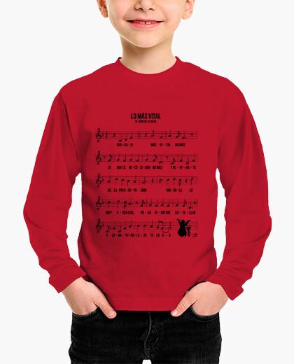 Camisetas niños Partitura Lo Más Vital Rock