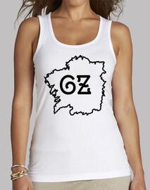 Camisola mapa Galiza branca/negra - muller