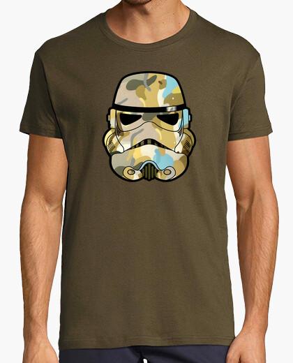 Camo stormtrooper helmet graffiti t-shirt