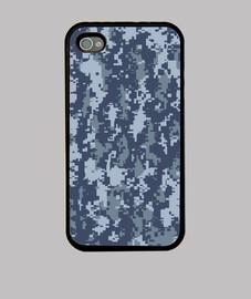 Camouflage pixels bleu