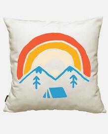 campamento y arcoiris