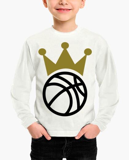 Ropa infantil campeón de la corona de baloncesto