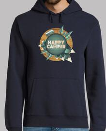 camper felice - felice intorno al mondo con il mio jersey con cappuccio da uomo e da uomo