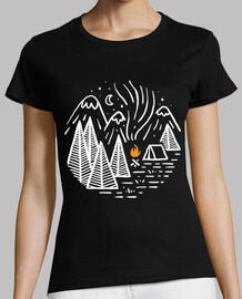 camping et feu de joie