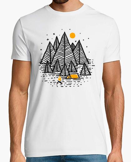 Camiseta campista feliz (para la luz)