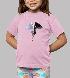 Camseta niños Angel Black Vs White
