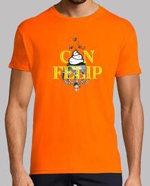 Can Felip, samarreta curta taronja, home
