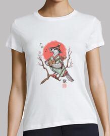 canción pájaro camisa para mujer