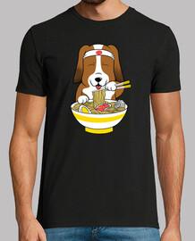 cane ass e segugio mangiare ra men