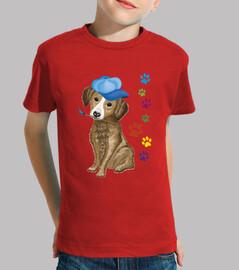 cane con pennelli pittore