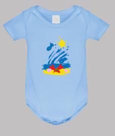 Cangrejo Playa - Body bebé, azul cielo