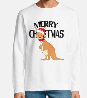canguro lindo navidad australiano
