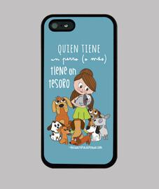 cani ragazza tesoro - la copertura di iphone 5