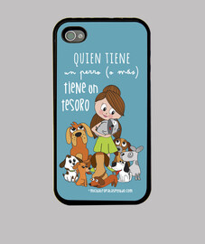 cani tesoro ragazza - funda iphone 4 / 4s