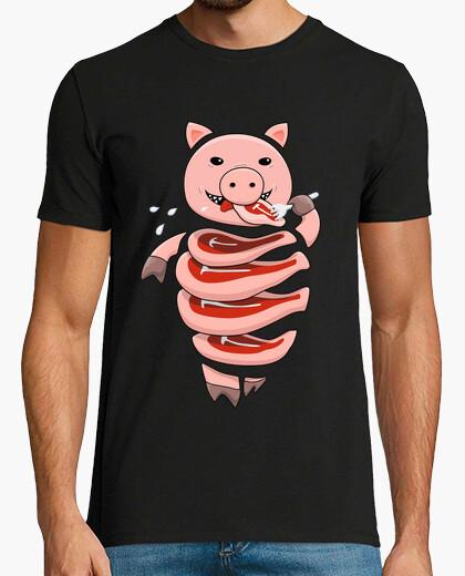 Camiseta caníbal cerdo glotón