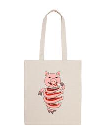 caníbal cerdo glotón