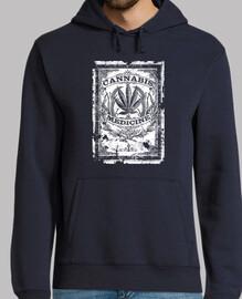 cannabis medicine - old retro label-med