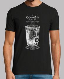 cannabis tea-medicine-old label-retro