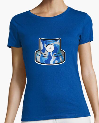 Camiseta Cap azul camuflage w