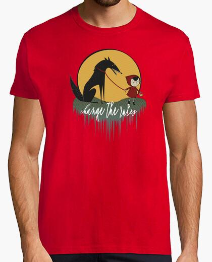 Camiseta caperucita roja feminista cambia las reglas