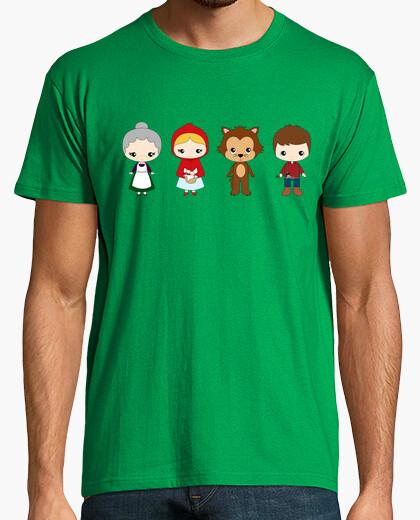 Camiseta Caperucita roja personajes
