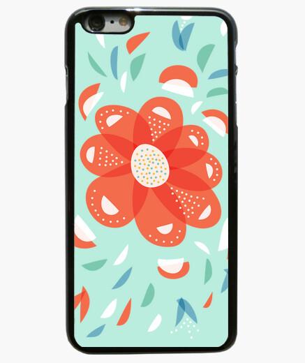 Funda iPhone 6 Plus / 6S Plus caprichosa flor roja decorativa
