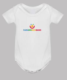 CARA BIN BON BAND - Body bebé, blanco - Logo CARA BIN BON BAND
