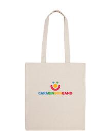 CARA BIN BON BAND - Bolsa tela 100% algodón - Logo CARA BIN BON BAND