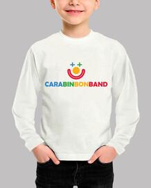 CARA BIN BON BAND - Niño, manga corta, blanco - Logo CARA BIN BON BAND