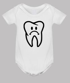 cara de diente triste